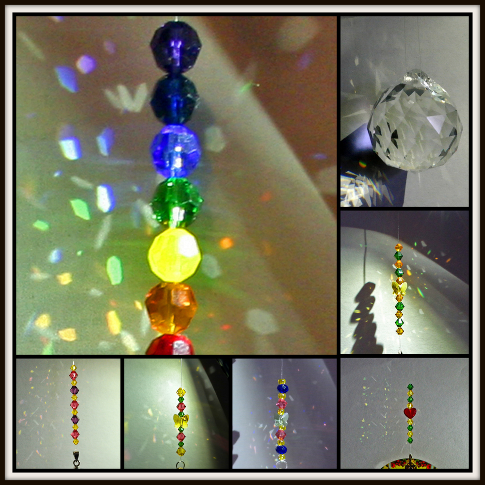 Example Swarovski crystal beads & Glass Prism