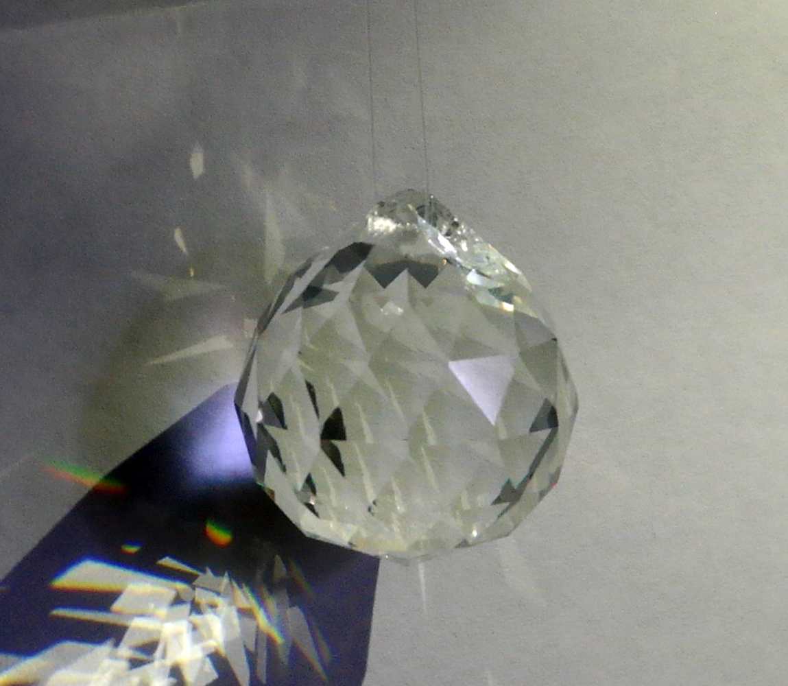 Faceted Glass Crystal Prism