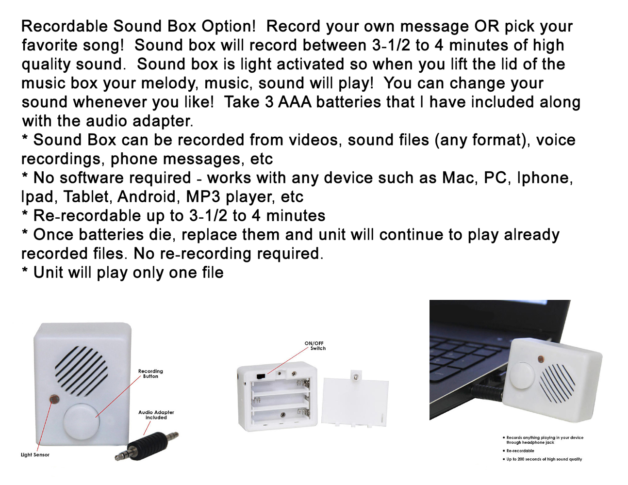 Sound Box Information