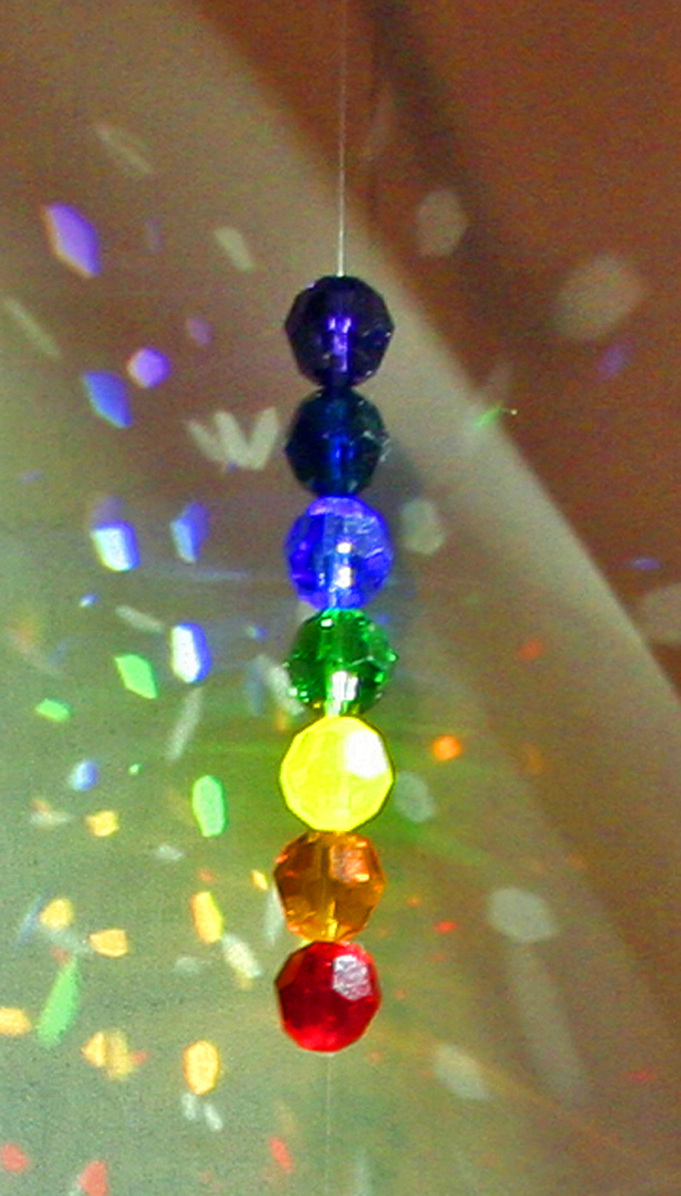 Chakra Swarovski round faceted crystal beads