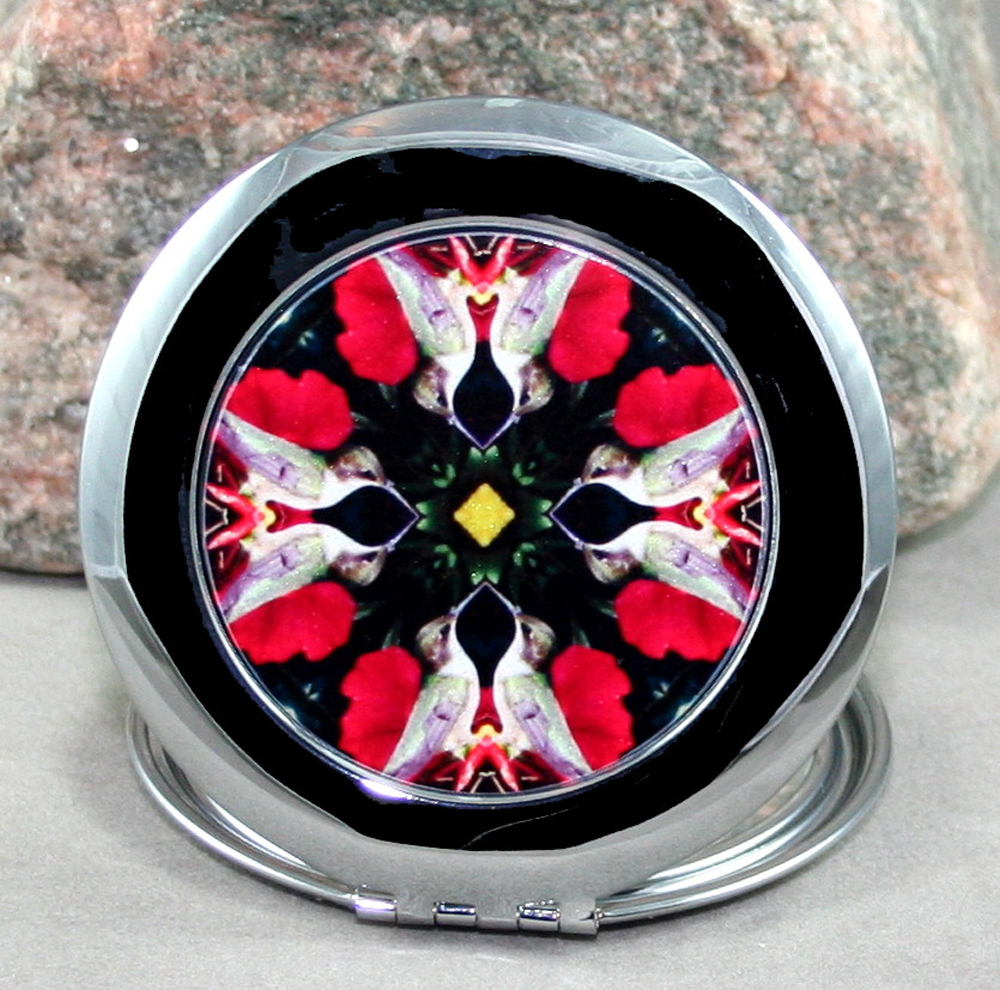 Hummingbird Compact Mirror Sacred Geometry Mandala Kaleidoscope Tiny Dancer