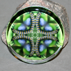 Caterpillar Paperweight Mandala Sacred Geometry Kaleidoscope Miracle