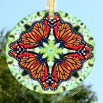 Butterfly Monarch Suncatcher Glass Mandala Sacred Geometry Kaleidoscope Jeweled Jubilee
