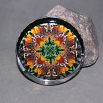Butterfly Glass Paperweight Boho Chic Mandala New Age Sacred Geometry Kaleidoscope Deja Vu