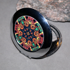 Butterfly Compact Mirror Pocket Mirror Boho Chic Mandala New Age Sacred Geometry Hippie Kaleidoscope Celestial Chi