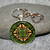 Butterfly Key Chain Sacred Geometry Mandala Wind Whisperer