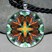 Butterfly Pendant Mandala Sacred Geometry Kaleidoscope Timeless Treasure