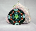 Butterfly Glass Ornament Sacred Geometry Mandala Kaleidoscope Ginger Gem