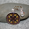 Butterfly Key Chain Sacred Geometry Mandala Wafting Spirit