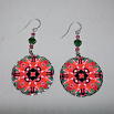 Frangipani Earrings Dangle Boho Chic Mandala New Age Sacred Geometry Hippie Kaleidoscope Mau Loa