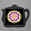 Pansy Trivet Cast Iron Teapot Boho Chic Mandala New Age Sacred Geometry Hippie Kaleidoscope Blissful Beliefs