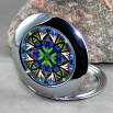 Butterfly Compact Mirror Sacred Geometry Mandala Kaleidoscope Auroras Aria