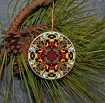 Pansy Christmas Ornament Boho Chic Mandala New Age Sacred Geometry Hippie Kaleidoscope Minutia