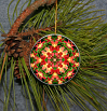 Ornament Christmas Ceramic Orchid Mandala All Occasion Sacred Geometry Kaleidoscope Boho Chic New Age Bohemian Modern Unique Blazing Beauty