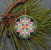 Ornament Christmas Ceramic Butterfly Mandala All Occasion Sacred Geometry Kaleidoscope Boho Chic New Age Bohemian Modern Unique Nymph Nirvana