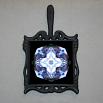 Wolf Trivet Cast Iron Ceramic Tile Mandala Sacred Geometry Kaleidoscope Sincere Devotion
