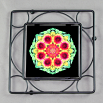 Blanket Flower Trivet Black Iron Mandala Sacred Geometry Kaleidoscope A Ray of Hope