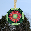 Butterfly Glass Suncatcher Mandala Sacred Geometry Romantic Renaissance