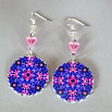 Hyacinth Earrings Silver Mandala Sacred Geometry Kaleidoscope Frolicking Flora