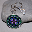 Butterfly Key Chain Sacred Geometry Mandala Butterfly Bliss