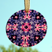 Hyacinth Glass Suncatcher Mandala Sacred Geometry Kaleidoscope Frolicking Flora