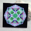 Blue Heron Decorative Ceramic Tile Coaster trivet Geometric Kaleidoscope Bemidji Blue