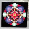 Hummingbird Decorative Ceramic Tile Sacred Geometry Mandala Kaleidoscope Hyper Hummer