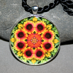 Blanket Flower Pendant Mandala Sacred Geometry Kaleidoscope A Ray of Hope