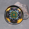 Bumblebee Glass Paperweight Boho Chic Mandala New Age Sacred Geometry Kaleidoscope BEElieve