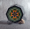 Bird of Paradise Fine Art Photograph Sacred Geometry Kaleidoscope Framed Feathered Fauna