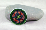 Monarch Butterfly Glass Magnet Kaleidoscope Mandala Monarch Melody