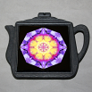 Pansy Trivet Cast Iron Teapot Boho Chic Mandala New Age Sacred Geometry Hippie Kaleidoscope Endearing Memories