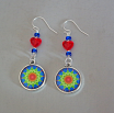 Mandala Earrings Petite Boho Chic Sacred Geometry Zen Hippie Kaleidoscope Gypsy New Age Unique Gift For Her Explosion Of My Love