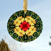Dragonfly Glass Suncatcher Sacred Geometry Mandala Kaleidoscope Do-si-do