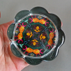 Rose Flower Glass Paperweight Kaleidoscope Mandala Sacred Geometry New Age Unique Boss Gift Coworker Gift Teacher Gift Everlasting Love