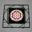 Pansy Trivet Black Iron Boho Chic Mandala New Age Sacred Geometry Hippie Kaleidoscope Blissful Beliefs