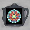 Butterfly Trivet Cast Iron Teapot Mandala Sacred Geometry Kaleidoscope Timeless Treasure