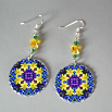 Daffodil Earrings Silver Mandala Sacred Geometry Kaleidoscope Sentimental Spring