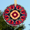 Butterfly Monarch Suncatcher Glass Mandala Sacred Geometry Kaleidoscope Summer Solace