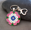 Daisy Keychain Purse Charm Boho Chic Mandala New Age Sacred Geometry Hippie Kaleidoscope A Love That Transcends