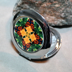 Butterfly Compact Mirror Pocket Mirror Boho Chic Mandala New Age Sacred Geometry Hippie Kaleidoscope Butterfly Kisses