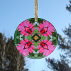 Dragonfly Daisy Glass Suncatcher Mandala Kaleidoscope Geometric Dance of the Dragons
