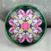 Butterfly Glass Magnet Sacred Geometry Mandala Kaleidoscope Nymph Nirvana