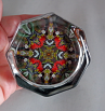 Cardinal Octagon Glass Paperweight Kaleidoscope Mandala Bird Lover Unique Boss Gift Coworker Gift Teacher Gift Scarlet Soloist