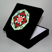 Butterfly Music Box With Ceramic Tile Top Boho Mandala New Age Sacred Geometry Beloved Psyche