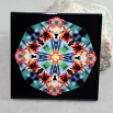 Butterfly Decorative Ceramic Tile Sacred Geometry Mandala Kaleidoscope Gaea's Rhapsody