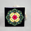 Dragonfly Decorative Ceramic Tile Coaster Trivet Geometric Kaleidoscope Do-si-do