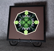 Black Bear Mandala Kaleidoscope Framed Fine Art Print With Mat Kaleidoscopic Nature Photography Wildlife Photograph Unique Wall Decor Bear Essentials