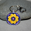 Daisy Keychain Bag Charm Boho Mandala New Age Sacred Geometry Kaleidoscope You Are My Sunshine