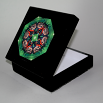 Butterfly Music Box With Ceramic Tile Top Boho Mandala New Age Sacred Geometry Monarch Melody